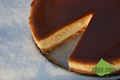 Cheesecake s karamelovou polevou