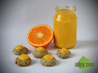 Orange curd se krásně snoubí s makovým cukrovím